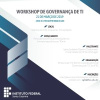 Flyer Workshop de Governança IFSC