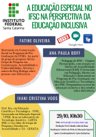 Live - A Educação Especial no IFSC na Perspectiva da Educação Inclusiva