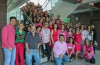 Servidores da Reitoria vieram de roupas rosas na última sexta-feira (19) em apoio às ações.